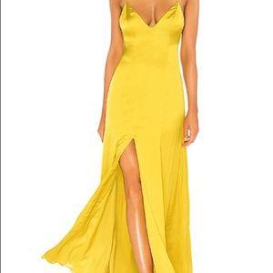 Lovers + Friends Bermuda yellow gown maxi dress